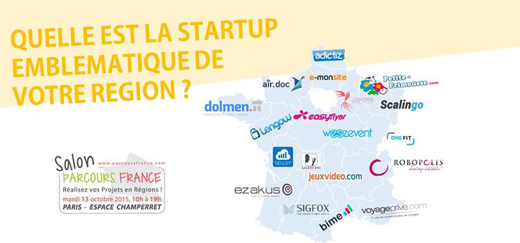 La carte des startups emblématiques en région
