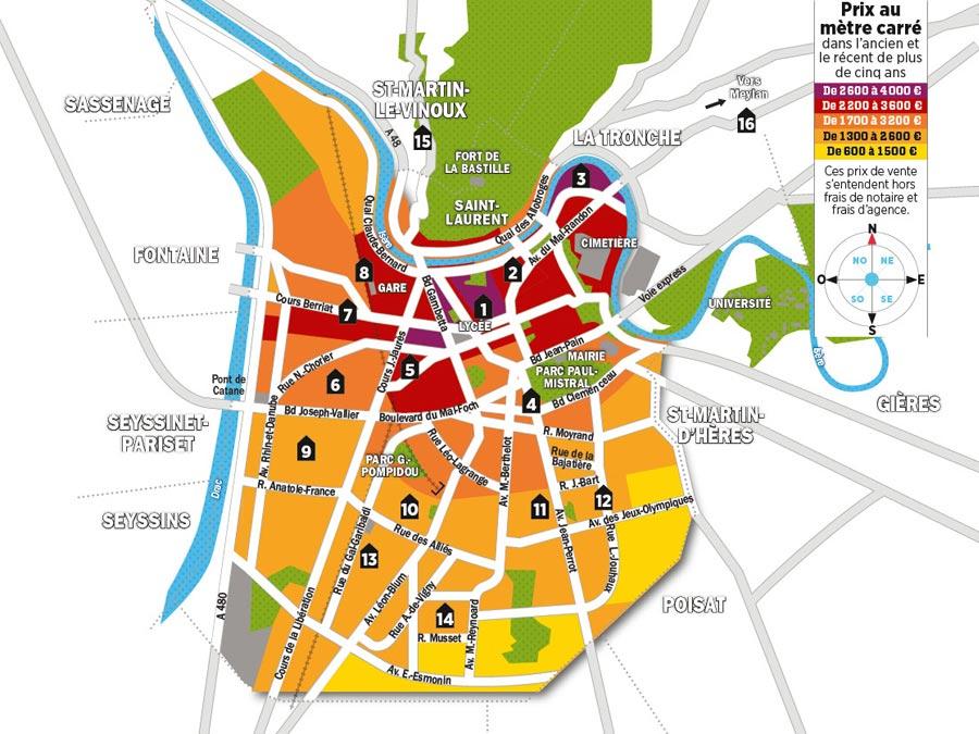 Quels sont les prix de l'immobilier à Grenoble ?