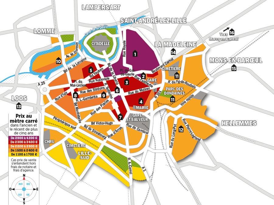 Lille : quels sont les prix de l'immobilier ?
