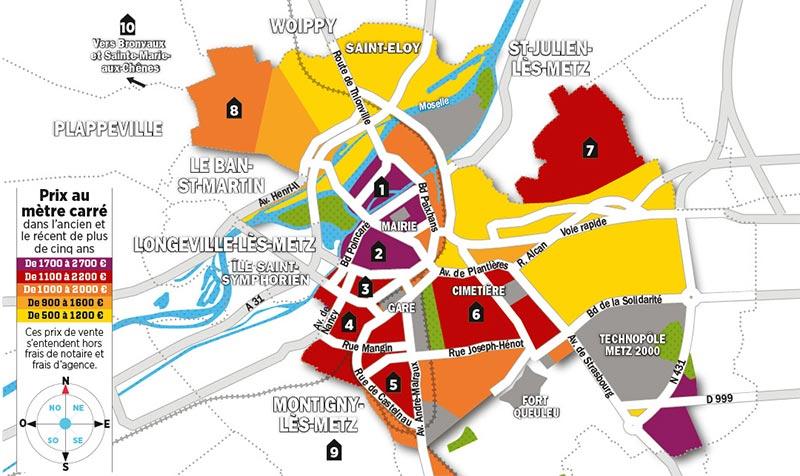 Quels sont les prix de l'immobilier à Metz ?