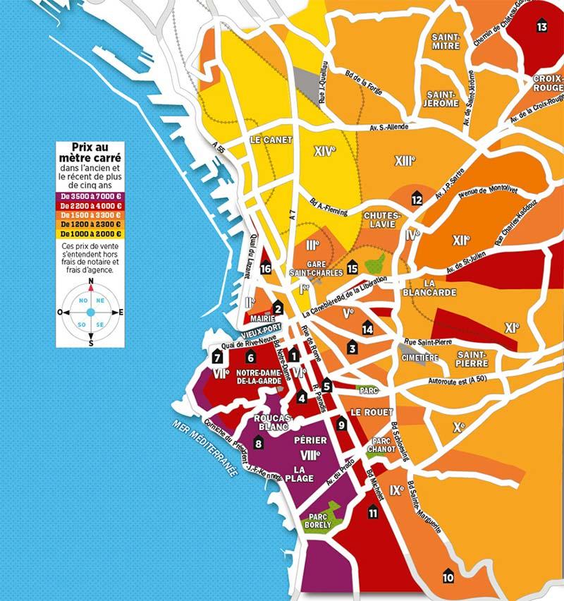 Les prix de l'immobilier à Marseille