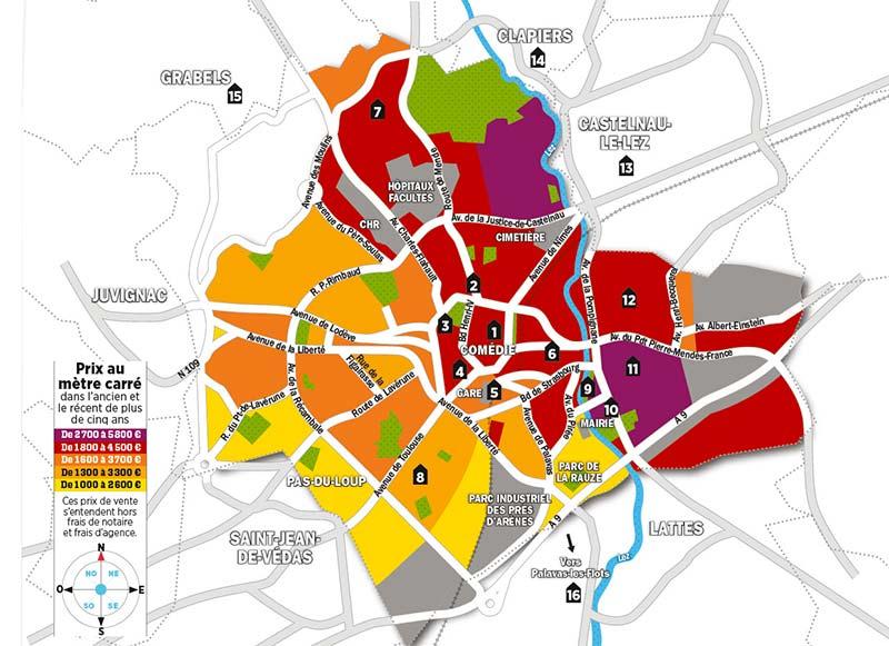 Quels sont les prix de l'immobilier à Montpellier ?