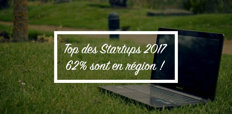 Top 100 des Start-up 2017 : 62% sont en régions 🚀